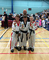 3 students from burntwood and cannock taekwondo come 1st, 2nd, and 3rd in a national taekwondo tournament