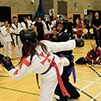 burntwood and cannock taekwondo student katie brown competes in the final of a taekwondo tournament