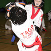 taekwondo students competing at the lincolnshire open