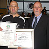 burntwood and cannock taekwondo instructor sean hardwick receives his 6th taekwondo dan from grand master dave oliver