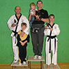 the dads of burntwood and cannock taekwondo students win at a taekwondo tournament